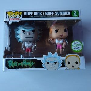 Funko Pop buff Rick and Summer